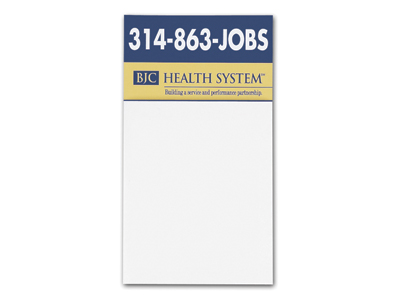Business Card Magnet with Blank Pad